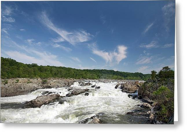 Whitewater On The Potomac River Greeting Card by Jim West