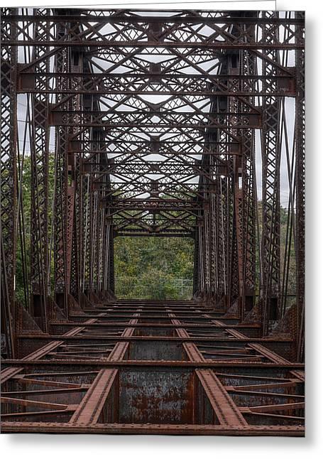 Whitford Railway Truss Bridge Greeting Card by Richard Reeve