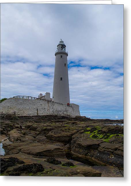 Whitley Bay St Mary's Lighthouse Greeting Card