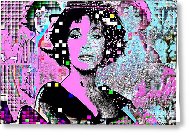 Whitney Houston Sing For Me Again 2 Greeting Card