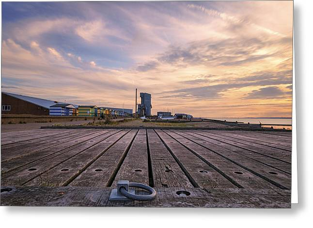 Whitstable Sunset  Greeting Card by Ian Hufton