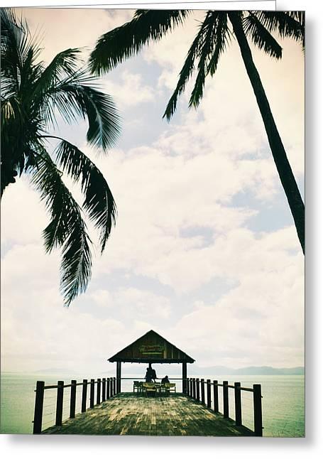 Whitsunday Island Greeting Card by Sherri Abell