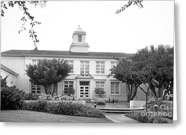 Whittier College Hoover Hall Greeting Card by University Icons