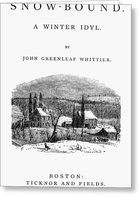 Whittier Snow-bound Greeting Card