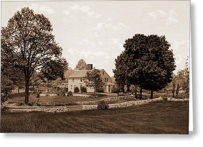 Whittiers Birthplace, Haverhill, Whittier, John Greenleaf Greeting Card by Litz Collection