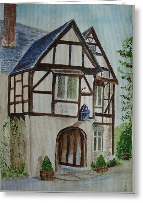 Whittington Inn - Painting Greeting Card by Veronica Rickard