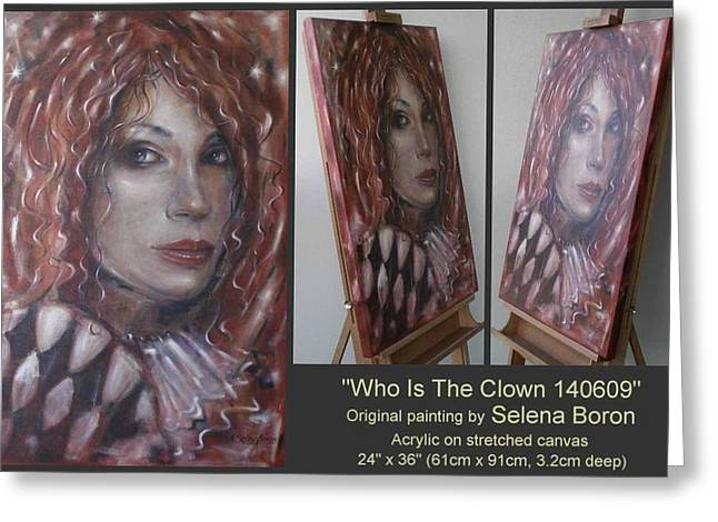 Who Is The Clown 140609 Comp Greeting Card