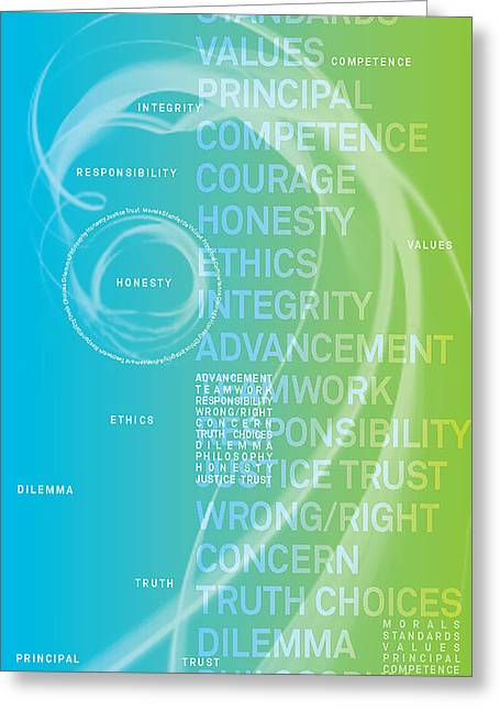 Who Is The Most Ethical Person.3 Greeting Card by Page One Tang