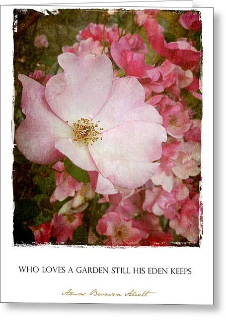 Who Loves A Garden Greeting Card by Patricia Strand