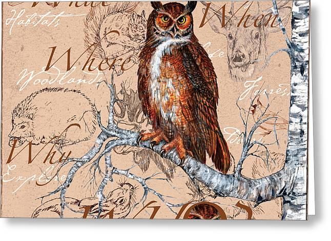 Who Owl Greeting Card