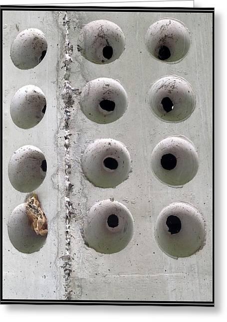 Wholly Holes 1 Greeting Card