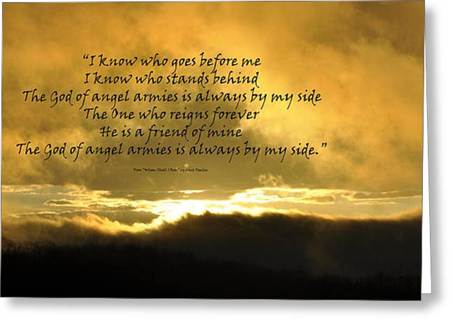 Whom Shall I Fear Greeting Card by Diane E Berry