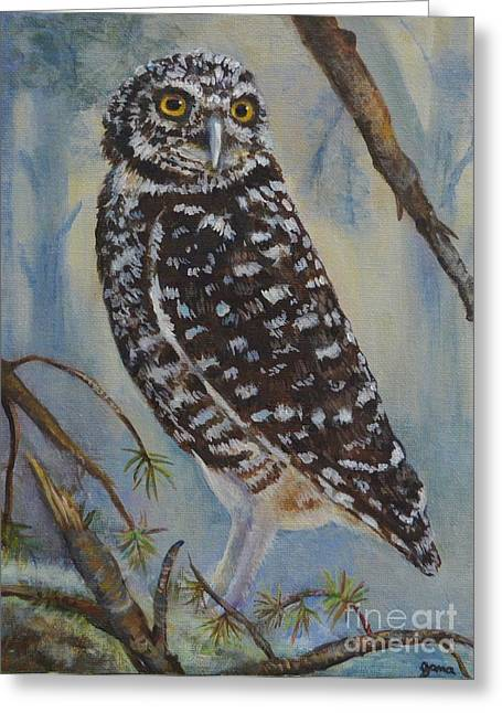 Whoo Cares Greeting Card by Jana Baker