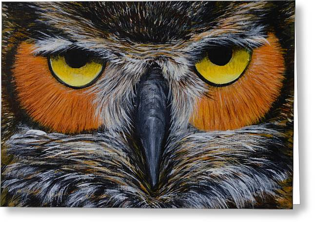 Whooo Is Looking At You? Greeting Card