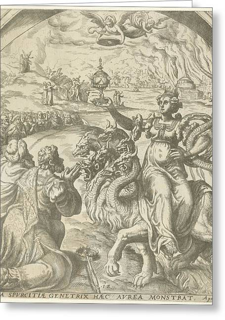 Whore Of Babylon And The Destruction Of Babylon Greeting Card