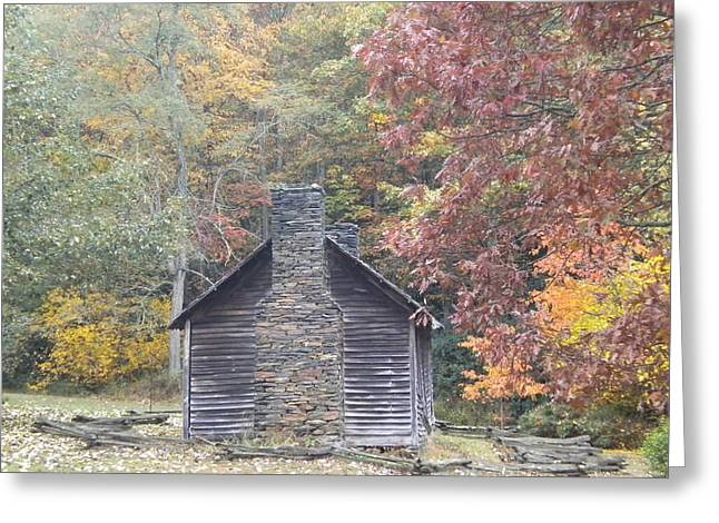 Greeting Card featuring the photograph Whorley Homeplace At Rocky Knob Cabins Blue Ridge Parkway by Diannah Lynch