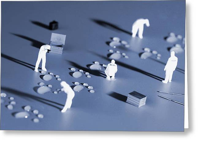 Whose Footprints II Little People Big World Greeting Card by Paul Ge