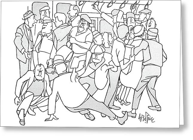 Why Anyone Should Look Forward To A Subway Series Greeting Card by George Price