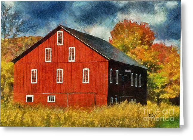 Why Do They Paint Barns Red? Greeting Card by Lois Bryan