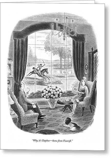 Why, It's Daphne - Home From Foxcroft Greeting Card by Richard Taylor