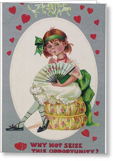 Why Not Seize This Opportunity ? Greeting Card by Mary Evans Picture Library