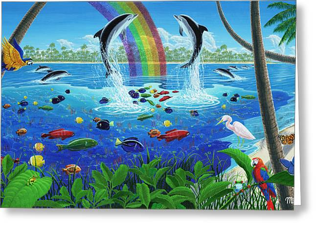 Why There Are Rainbows. Greeting Card by Michael Phillips