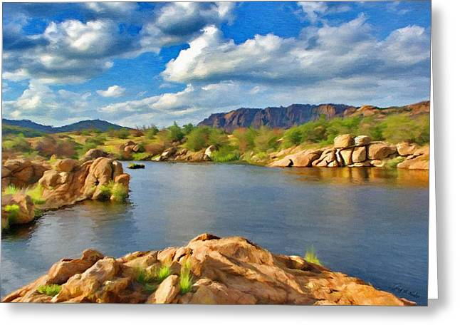 Wichita Mountains Greeting Card by Jeff Kolker