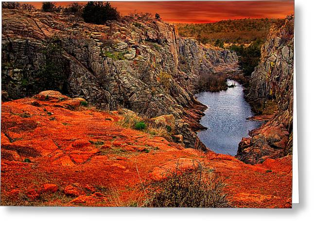Wichita Mountains  Greeting Card by Tim Hayes