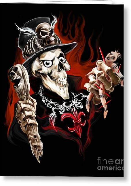 Wicked Voodoo Doctor Greeting Card