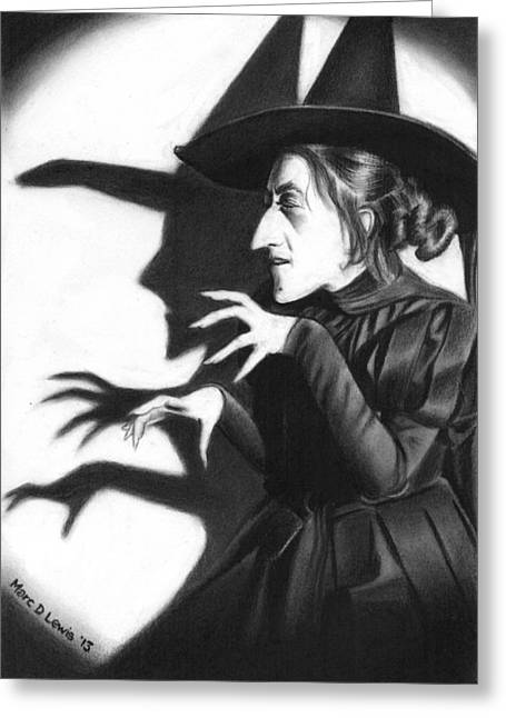 Wicked Witch Greeting Card by Marc D Lewis