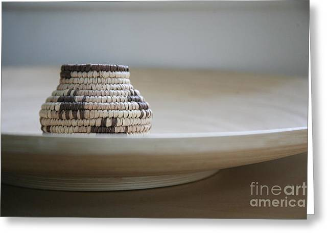 Wicker On Wood Greeting Card by Lynn England