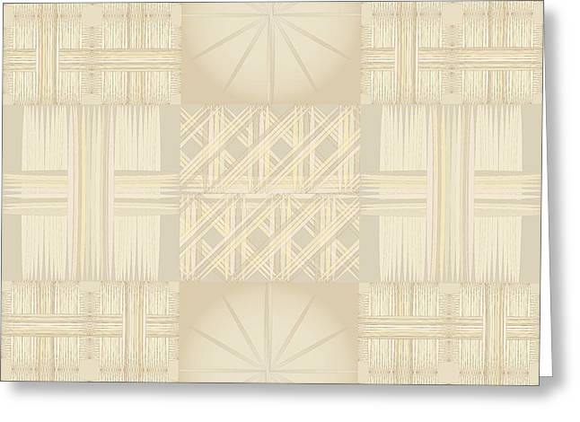 Wicker Quilt Greeting Card