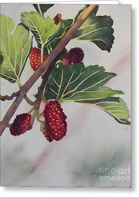 Wide Mulberries Greeting Card