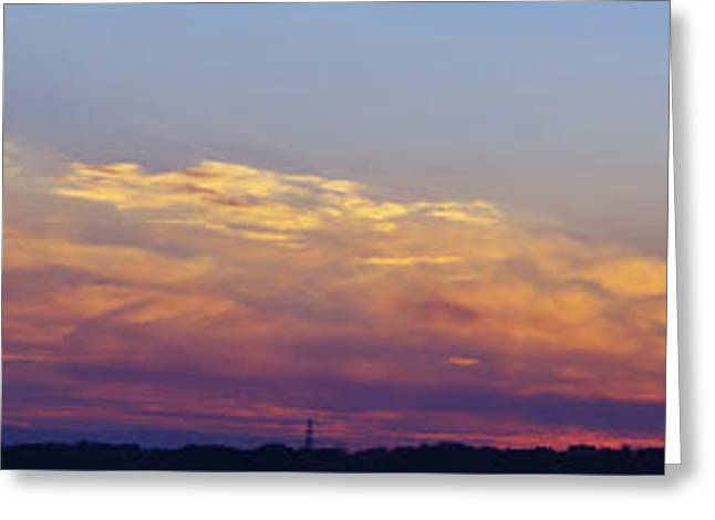 Wide Sunset Panorama Greeting Card