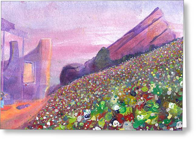 Widespread Panic At Redrocks Greeting Card