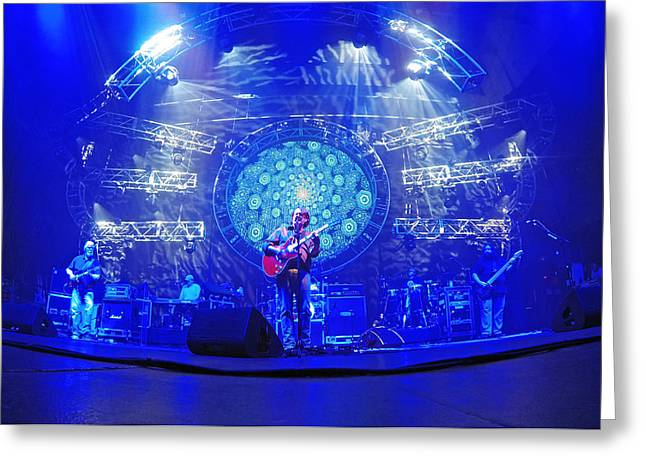 Widespread Panic Blue Greeting Card by Ty Helbach