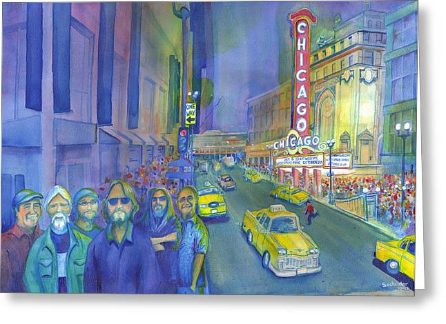 Widespread Panic Chicago  Greeting Card