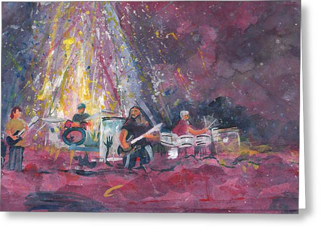 Widespread Panic Painted Live  Greeting Card by David Sockrider