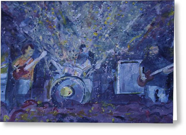 Widespread Panic Painted Live Two Greeting Card