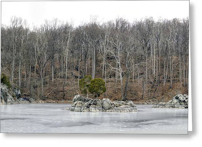 Widewater Ice Greeting Card by Francis Sullivan