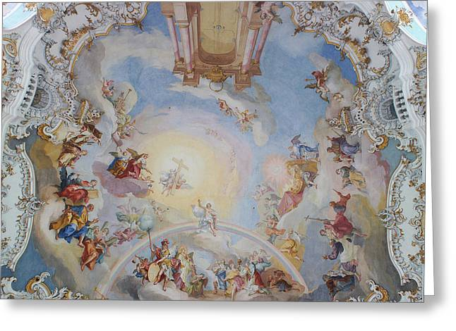 Wies Pilgrimage Church Bavaria Fresko Greeting Card