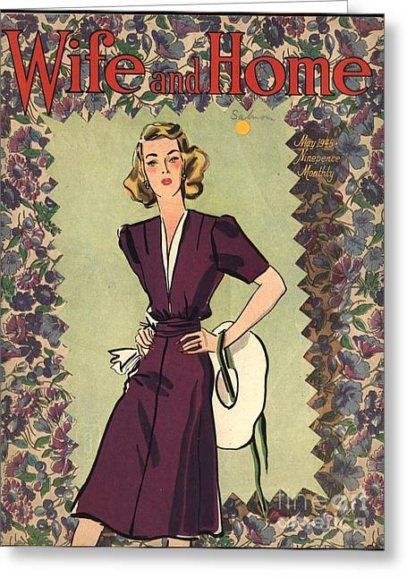 Wife And Home 1940s Uk Womens Magazines Greeting Card by The Advertising Archives