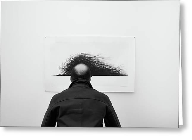 Wig Greeting Card by Jorge Pena