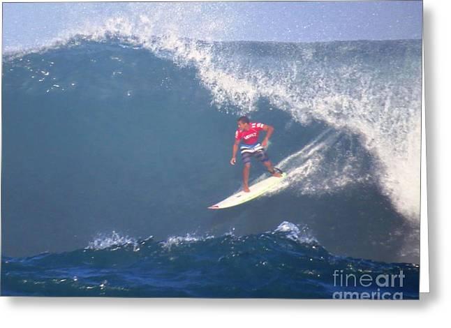 Wiggolly Dantas Pro Surfer Greeting Card
