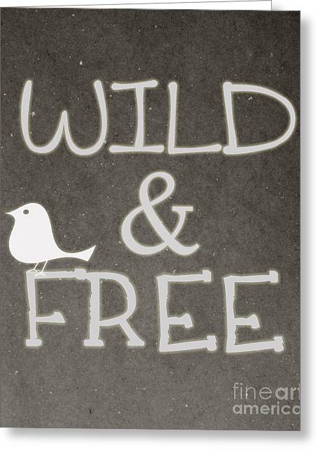 Wild And Free Greeting Card by Pati Photography