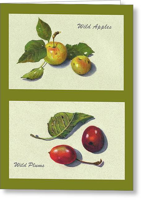 Wild Apples And Plums Greeting Card