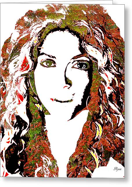 Wild Art Shakira Greeting Card