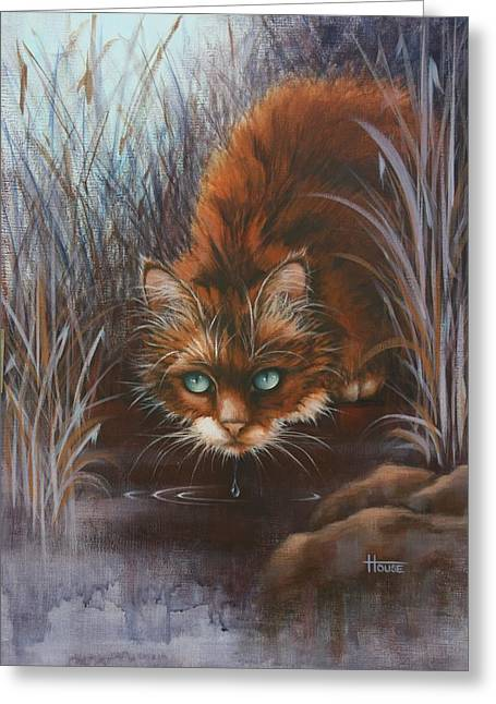Greeting Card featuring the painting Wild At Heart by Cynthia House