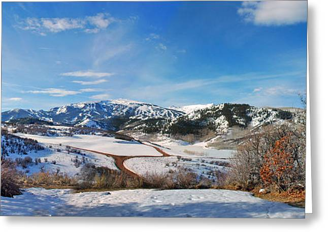 Wild Cat Ranch - Snowmass Greeting Card by Allen Carroll