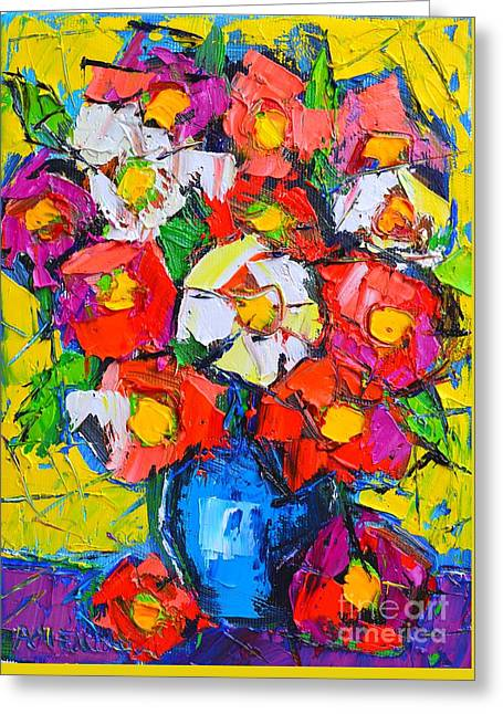 Wild Colorful Flowers Greeting Card by Ana Maria Edulescu
